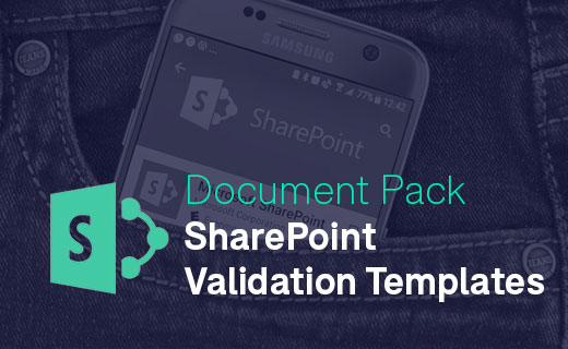 Document Pack for SharePoint Validation Templates