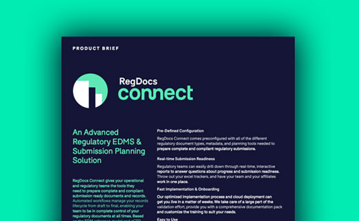 Information Sheet for RegDocs Connect