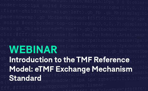 Introduction to the TMF Reference Model the Exchange Mechanism Standard