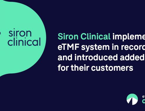 Siron Clinical Chooses Montrium's eTMF Connect to Complete Service Portfolio and Gain Strategic Edge